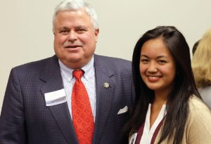 Sen. Apodaca with Minority Medical Mentoring Program Intern Vanna Labi, who intends to pursue at MD/MPH dual degree.