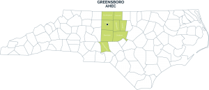 Greensboro AHEC service area
