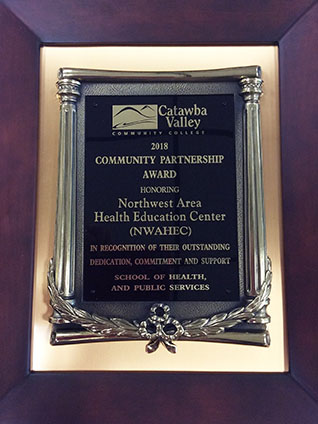 Northwest AHEC receives CVCC community partnership award