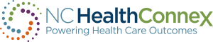 The logo for the NC HealthConnex state-designated health information exchange.
